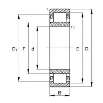 المحامل NU1014-M1 FAG