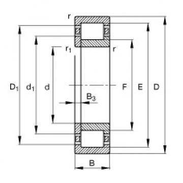 المحامل NUP2309-E-TVP2 FAG