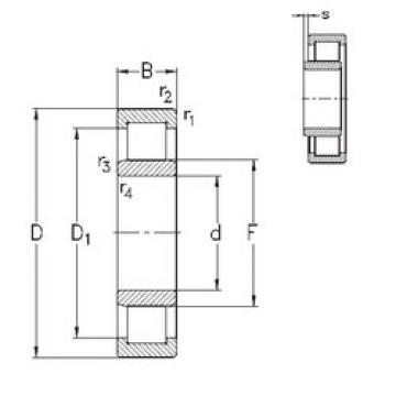 المحامل NU214-E-M6 NKE