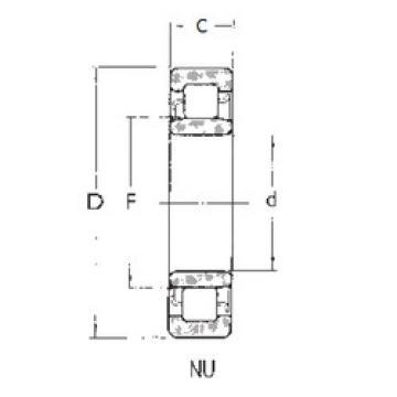 المحامل NU1016 FBJ
