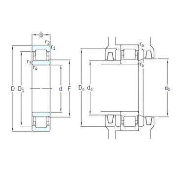 المحامل NU1009ECP/HC5C3 SKF