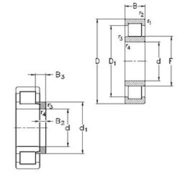 المحامل NU1068-M6+HJ1068 NKE