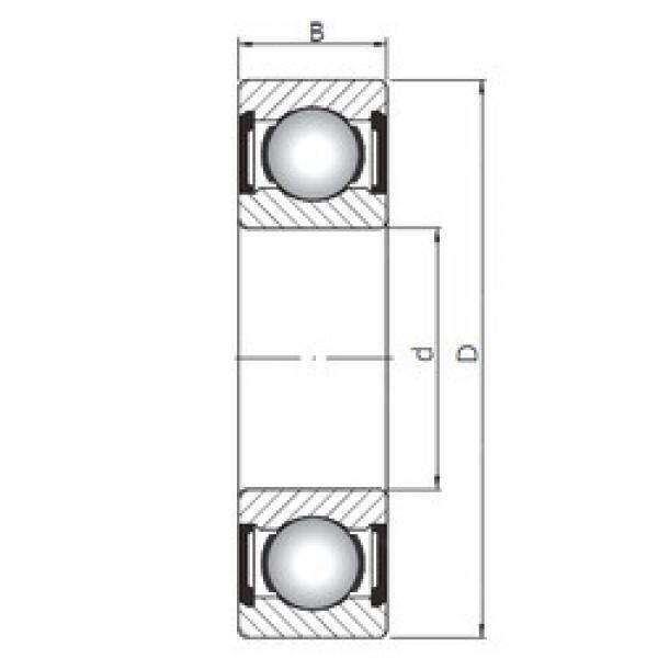 المحامل 61916 ZZ ISO #1 image