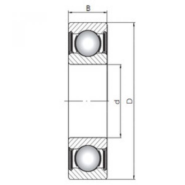 المحامل 61916-2RS ISO #1 image