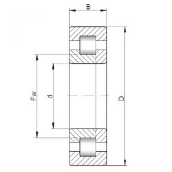 المحامل NUP2308 ISO #1 image