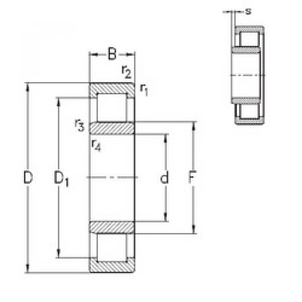 المحامل NU1022-E-MPA NKE #1 image