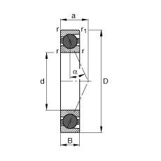 FAG محامل المغزل - HCB7030-E-T-P4S