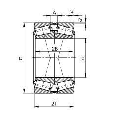 FAG Kegelrollenlager - 31308-XL-P5-DF-VA20-40
