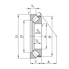 FAG محوري كروية محامل - 29434-E1-XL