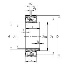 FAG محامل كروية - 23234-E1A-XL-K-M + AH3234G