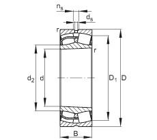 FAG محامل كروية - 24028-BE-XL-K30