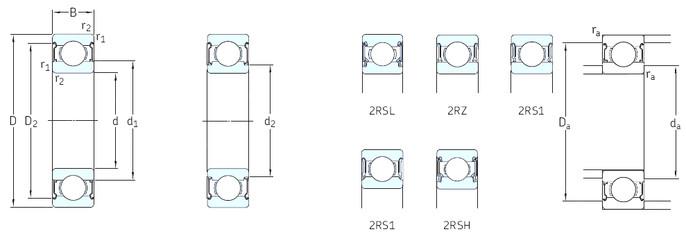 المحامل 6200-RSL SKF