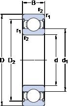المحامل 6201-2Z/VA201 SKF