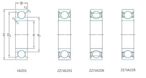 المحامل 6201/VA201 SKF