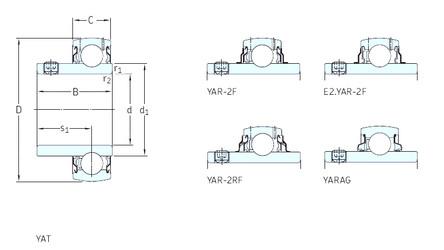 المحامل YAR213-208-2F SKF