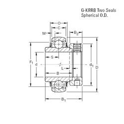 المحامل G1212KRRB Timken