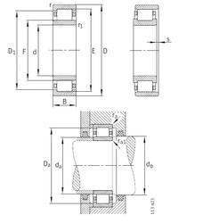المحامل NU10/500-M1 FAG
