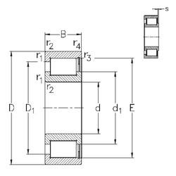 المحامل NCF28/600-V NKE