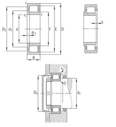 المحامل NUP2344-EX-M1 FAG