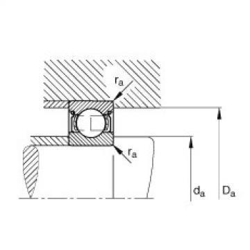 FAG الأخدود العميق الكرات - 605-2Z