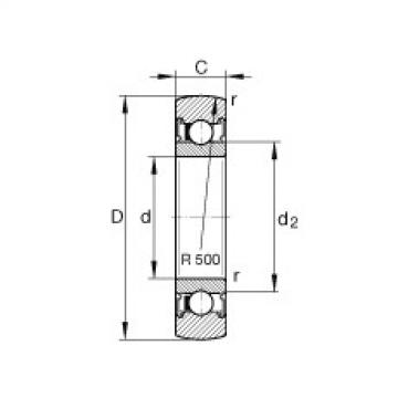 FAG بكرات الجنزير - LR604-2RSR