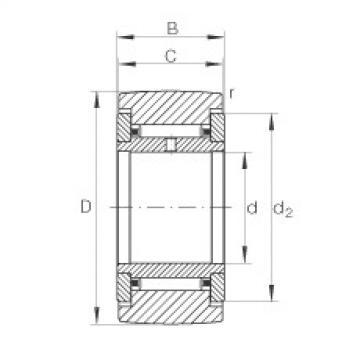 FAG نير نوع بكرات المسار - NATR6