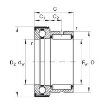 FAG Nadel-Axialkugellager - NKX35-Z-XL