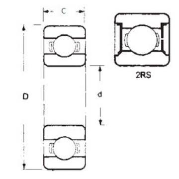 المحامل 6201-2RS FBJ