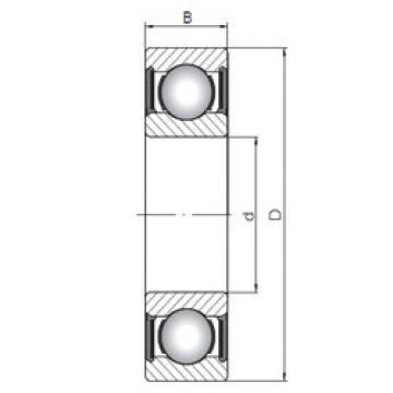 المحامل 6201-2RS CX