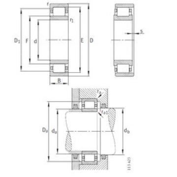 المحامل NU10/560-M1 FAG
