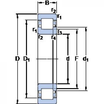 المحامل NUP 308 ECM SKF