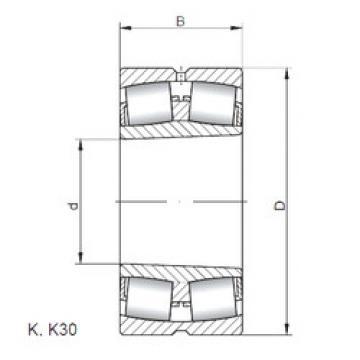 المحامل 239/1060 KW33 ISO
