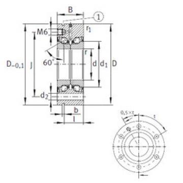 المحامل ZKLF40100-2RS-PE INA