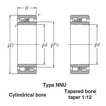 Bearings Cylindrical Roller Bearings NNU4968