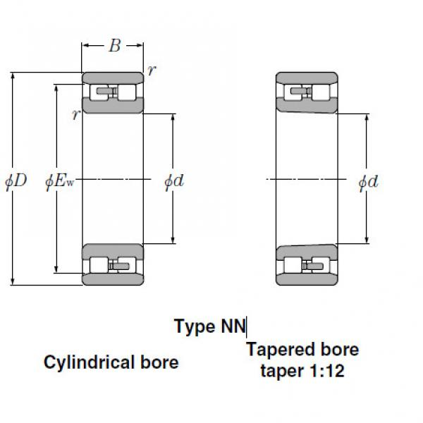 Bearings Tapered Roller Bearings NN3956K #1 image